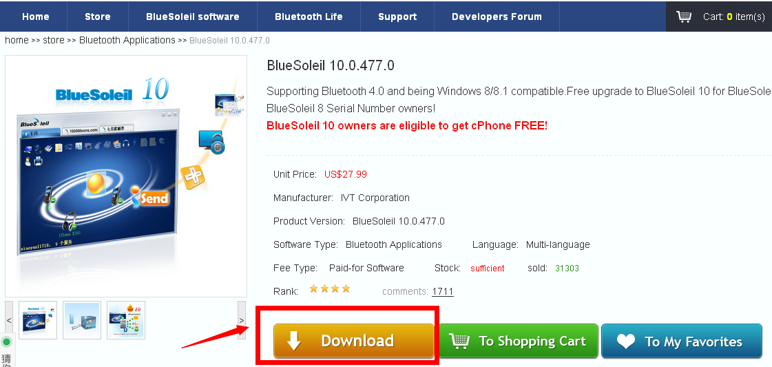 download bluetooth soleil windows 7